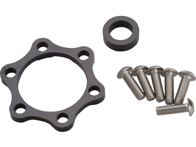 Problem Solvers Booster Spacer Kit for Rear Hubs 10mm silver/black